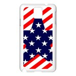 Patriotic Usa Stars Stripes Red Samsung Galaxy Note 3 N9005 Case (White)