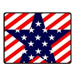 Patriotic Usa Stars Stripes Red Double Sided Fleece Blanket (Small)