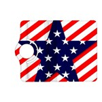 Patriotic Usa Stars Stripes Red Kindle Fire HD (2013) Flip 360 Case