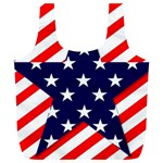 Patriotic Usa Stars Stripes Red Full Print Recycle Bags (L)