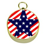 Patriotic Usa Stars Stripes Red Gold Compasses