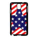 Patriotic Usa Stars Stripes Red Samsung Galaxy Note 3 Neo Hardshell Case (Black)