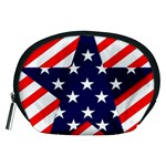 Patriotic Usa Stars Stripes Red Accessory Pouches (Medium)