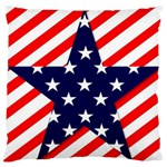 Patriotic Usa Stars Stripes Red Standard Flano Cushion Case (One Side)
