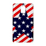 Patriotic Usa Stars Stripes Red Samsung Galaxy Note 4 Hardshell Case