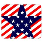 Patriotic Usa Stars Stripes Red Double Sided Flano Blanket (Small)