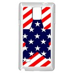 Patriotic Usa Stars Stripes Red Samsung Galaxy Note 4 Case (White)