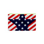 Patriotic Usa Stars Stripes Red Cosmetic Bag (XS)