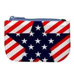 Patriotic Usa Stars Stripes Red Large Coin Purse