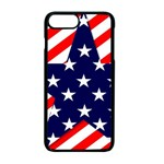 Patriotic Usa Stars Stripes Red Apple iPhone 7 Plus Seamless Case (Black)