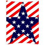 Patriotic Usa Stars Stripes Red Back Support Cushion