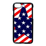 Patriotic Usa Stars Stripes Red Apple iPhone 8 Seamless Case (Black)