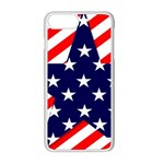 Patriotic Usa Stars Stripes Red Apple iPhone 8 Plus Seamless Case (White)