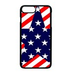 Patriotic Usa Stars Stripes Red Apple iPhone 8 Plus Seamless Case (Black)