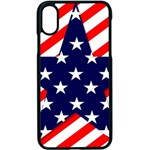 Patriotic Usa Stars Stripes Red Apple iPhone X Seamless Case (Black)