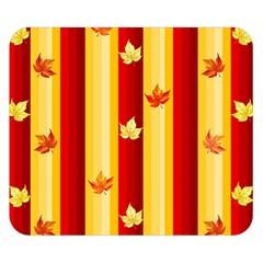 Autumn Fall Leaves Vertical Double Sided Flano Blanket (small)  by Celenk