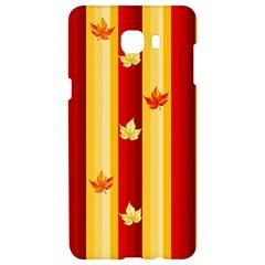 Autumn Fall Leaves Vertical Samsung C9 Pro Hardshell Case  by Celenk