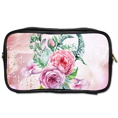 Flowers And Leaves In Soft Purple Colors Toiletries Bags by FantasyWorld7