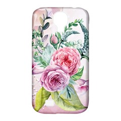 Flowers And Leaves In Soft Purple Colors Samsung Galaxy S4 Classic Hardshell Case (pc+silicone) by FantasyWorld7