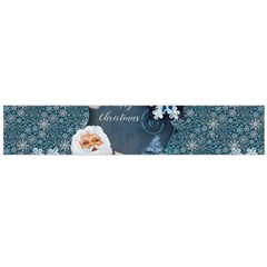 Funny Santa Claus With Snowman Large Flano Scarf  by FantasyWorld7