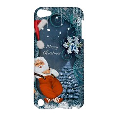 Funny Santa Claus With Snowman Apple Ipod Touch 5 Hardshell Case by FantasyWorld7