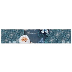 Funny Santa Claus With Snowman Flano Scarf (small)  by FantasyWorld7