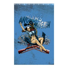 Navy Anchor s Aweigh Pinup Girl Shower Curtain 48  X 72  (small)  by allthingseveryday