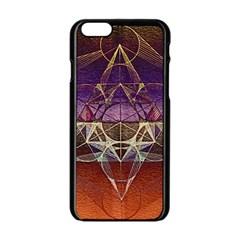 Cube Of Metatrone Diamond Apple Iphone 6/6s Black Enamel Case by Cveti