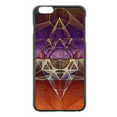 Cube Of Metatrone Diamond Apple Iphone 6 Plus/6s Plus Black Enamel Case by Cveti