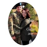 julia and colton - Ornament (Oval)