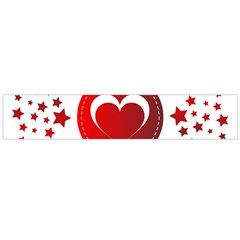 Monogram Heart Pattern Love Red Large Flano Scarf  by Celenk