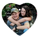 julia and colton2 - Ornament (Heart)