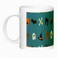 Halloween Cats Pumpkin Pattern Bat Night Luminous Mugs by Celenk