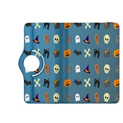 Halloween Cats Pumpkin Pattern Bat Kindle Fire Hdx 8 9  Flip 360 Case by Celenk