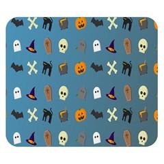 Halloween Cats Pumpkin Pattern Bat Double Sided Flano Blanket (small)  by Celenk