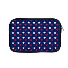 Patriotic Red White Blue Stars Blue Background Apple Macbook Pro 13  Zipper Case by Celenk