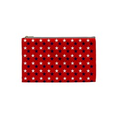 Patriotic Red White Blue Usa Cosmetic Bag (small)  by Celenk