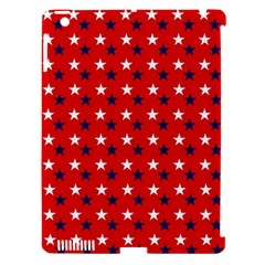 Patriotic Red White Blue Usa Apple Ipad 3/4 Hardshell Case (compatible With Smart Cover) by Celenk