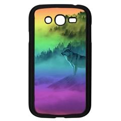 Yellowstone Wolfs Sunset Samsung Galaxy Grand Duos I9082 Case (black) by PodArtist
