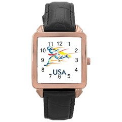 F686a000 1c25 4122 A8cc 10e79c529a1a Rose Gold Leather Watch  by MERCH90