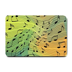 Music Notes Small Doormat  by linceazul