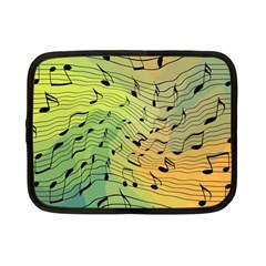 Music Notes Netbook Case (small)  by linceazul