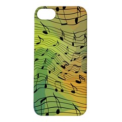 Music Notes Apple Iphone 5s/ Se Hardshell Case by linceazul