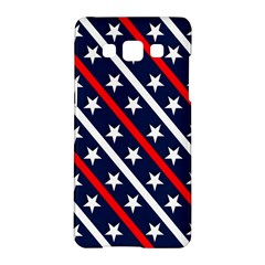 Patriotic Red White Blue Stars Samsung Galaxy A5 Hardshell Case  by Celenk