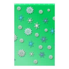 Snowflakes Winter Christmas Overlay Shower Curtain 48  X 72  (small)  by Celenk
