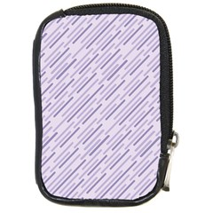 Halloween Lilac Paper Pattern Compact Camera Cases by Celenk