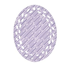 Halloween Lilac Paper Pattern Oval Filigree Ornament (two Sides) by Celenk