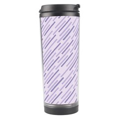 Halloween Lilac Paper Pattern Travel Tumbler by Celenk