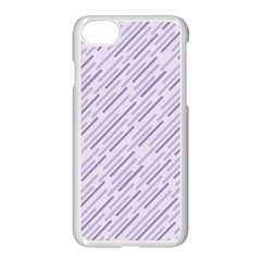 Halloween Lilac Paper Pattern Apple Iphone 7 Seamless Case (white) by Celenk