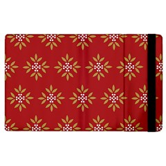 Pattern Background Holiday Apple Ipad 3/4 Flip Case by Celenk